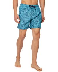 Red Herring - Big And Tall Blue Banana Leaf Print Swim Shorts - Lyst