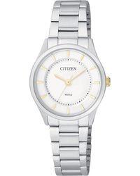 Citizen - Ladies Stainless Steel Watch Er0201-56b - Lyst