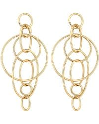 Lipsy - Interlocking Circle Drop Earrings - Lyst