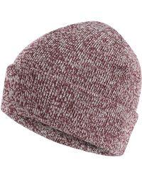 541b4639b Wine Red Twist Knit Beanie Hat - Multicolour