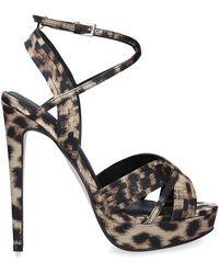 544ae456880 Leopard 'sammy' Print Platform Heel Sandals - Black