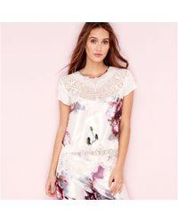 Ted Baker - Pink Posy Print Satin 'ethereal' Pyjama Top - Lyst