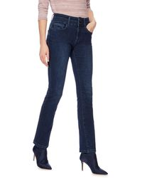 J By Jasper Conran Mid Blue 'lift And Shape' High-waisted Straight Leg Jeans