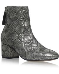 f2586758cf08 Carvela Kurt Geiger - Silver  slim  High Heel Ankle Boots - Lyst