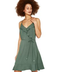 d85e0cbf941c Therapy Plain Jersey Wrap Dress in Green - Lyst