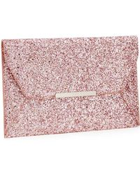 Faith - Pink Glitter 'party' Envelope Clutch Bag - Lyst