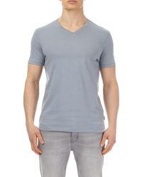 Burton - 2 Pack Grey Sky And White V-neck T-shirt - Lyst