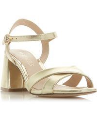 850161a692a1 Dune Gold Leather  ditaa  High Stiletto Heel T-bar Sandals in ...