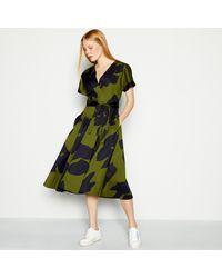 J By Jasper Conran Green Floral Print 'elsa' Midi Wrap Dress