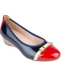 Lotus - Navy Patent 'bisera' Ballet Court Shoes - Lyst