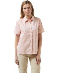 Craghoppers - Pink Silla Short Sleeved Shirt - Lyst
