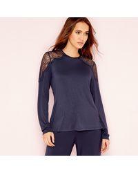 Ted Baker Lace Pyjama Top - Blue