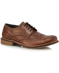 Lotus - Brown Leather 'hatch' Brogues - Lyst