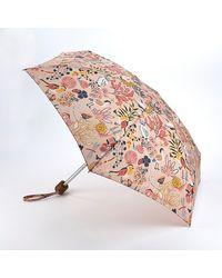 Cath Kidston Light Printed 'tiny 2' Magical Memories Wind Resistant Umbrella - Multicolour