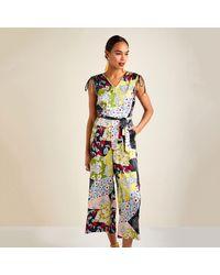 Yumi' Patchwork Print Jumpsuit - Multicolour