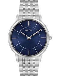 Bulova - Men's Stainless Steel Bracelet Watch 96a188 - Lyst