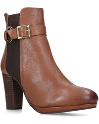 52eb34f97c4 'totally' Leather Block Heel Ankle Boots