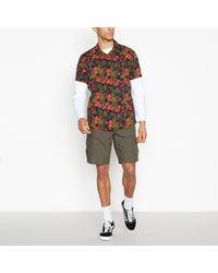 Red Herring Khaki Cotton Cargo Shorts - Natural