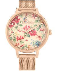 Cath Kidston - Gold Analogue Mesh Bracelet Watch Ckl085rgm - Lyst