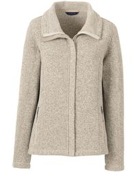 Lands' End Beige Fleece Jacket - Natural