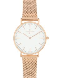 J By Jasper Conran - Ladies' Rose Gold Plated Mesh Analogue Watch - Lyst