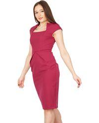 Jolie Moi - Fold Detail Bodycon Dress - Lyst