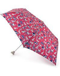 Cath Kidston Pink Squiggle Dogs 'minilite 2' Wind Resistant Umbrella