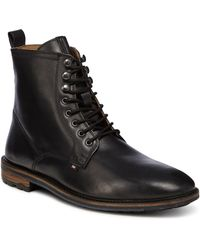 Ben Sherman - Black Leather 'earl' Lace Up Boots - Lyst