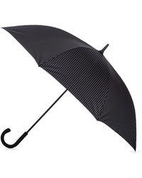 Fulton - Black Large Pinstripe Umbrella - Lyst