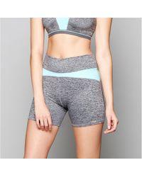 Freya - Grey 'reflective Speed' Sports Shorts - Lyst