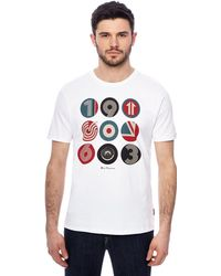 Ben Sherman - Big And Tall White Target Logo Print T-shirt - Lyst