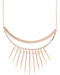 Pilgrim - Rose Plated Double Bar Necklace - Lyst