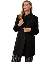James Lakeland - Black High Collar Coat - Lyst