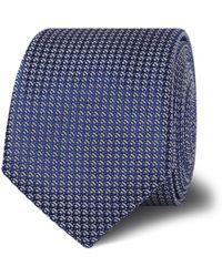 Tm Lewin - Navy Textured Weave Silk Skinny Tie - Lyst
