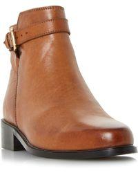 In Lyst Side Dune Tan Ankle Brown Zip Boots 'powars' 4qxYR8