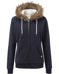 Tog 24 - Navy Marl Clough Womens Sherpa Lined Hoody - Lyst