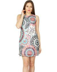 Izabel London - Multicoloured Printed Shift Dress - Lyst