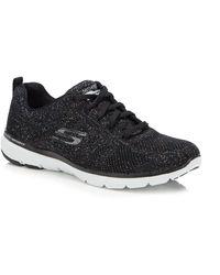 Skechers Knit 'flex Appeal 3.0' Trainers - Black