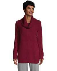Lands' End Red Cowl Neck Tunic Jumper