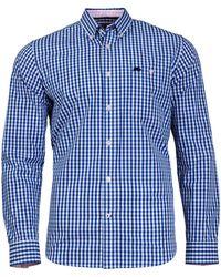 Raging Bull - Gingham Cobalt Shirt - Lyst