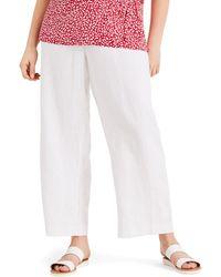 Studio 8 - Sizes 16-26 Alina Linen Wide Leg Trousers - Lyst
