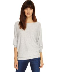 Phase Eight - Grey Marl Spot Stitch Becca Knitted Jumper - Lyst
