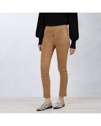 James Lakeland Faux Suede Pull On Trousers - Multicolour