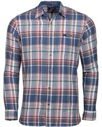 Raging Bull - Big And Tall Navy Long Sleeve Large Check Shirt - Lyst
