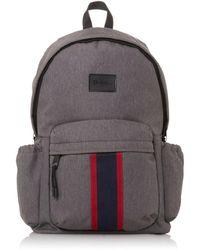 Dune Grey 'oshkosh' Stripe Branded Backpack