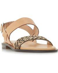 Dune Black - Multicoloured Leather 'leorra' Ankle Strap Sandals - Lyst