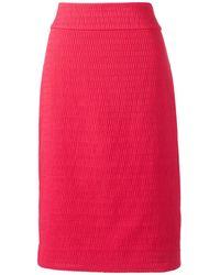 Lands' End Woven Textured Pencil Skirt