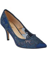 Lotus - Navy Suedette 'arlind' High Stiletto Heel Court Shoes - Lyst