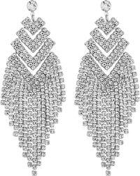 Red Herring - Crystal Arrow Drop Earrings - Lyst