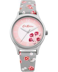 Cath Kidston Grey Floral Analogue Strap Watch Sckl086up - Multicolour